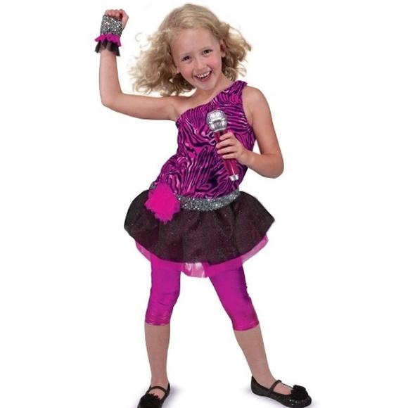 girls rock star halloween costume accessory set